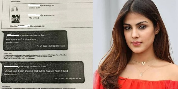 Rhea Chakraborty in touch with 'drug dealers', reveal leaked WhatsApp chats