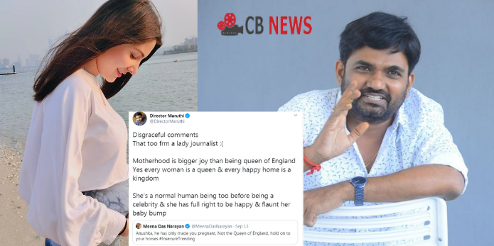 Director Maruthi hits back at journalist for commenting on Anushka Sharma's baby bump