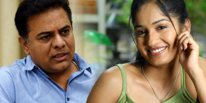 actress madhavi latha shocking comments on ktr over