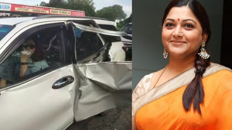 BJP Leader and Actress Khushbu Sundar meets with accident