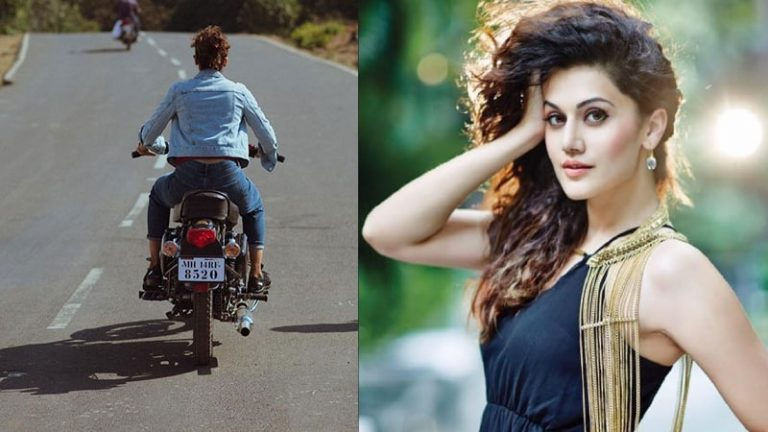 Taapsee Pannu was fined for not wearing a helmet