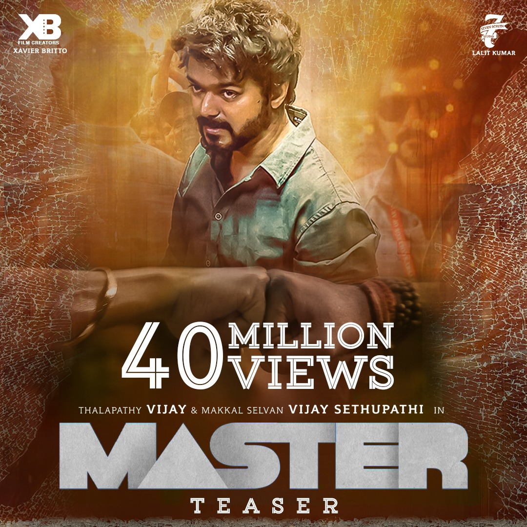 Another Huge Record For Vijay Master Teaser