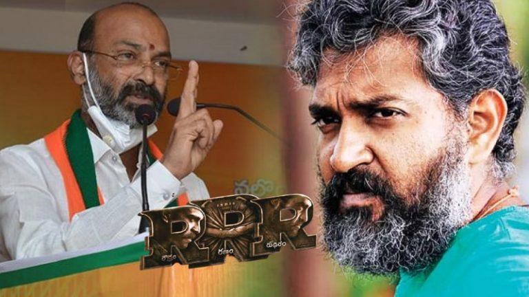 BJP Bandi Sanjay Warring to Rajamouli RRR Movie Release