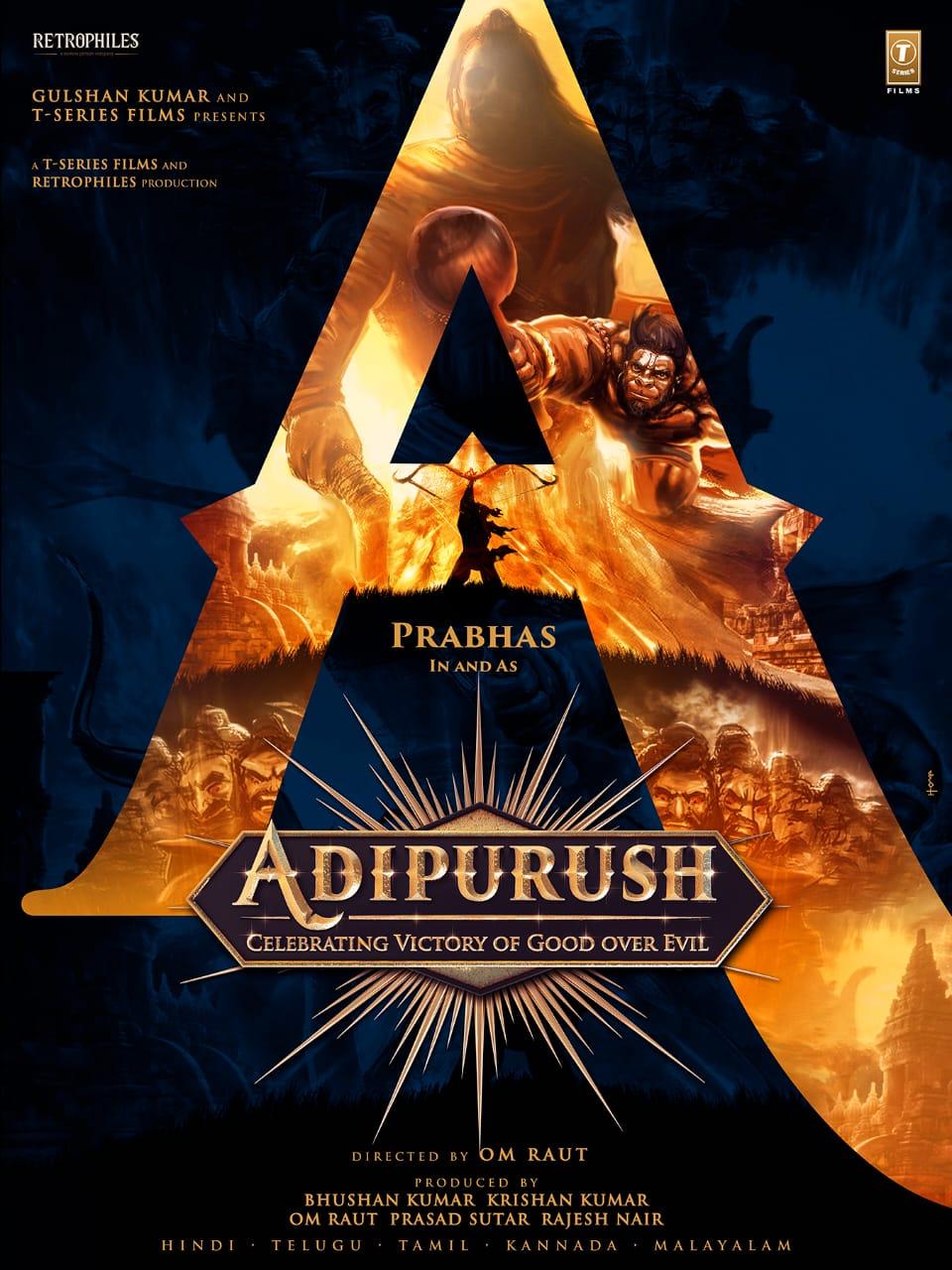 Prabhas And Saif Ali Khan's Adipurush title first look HD poster