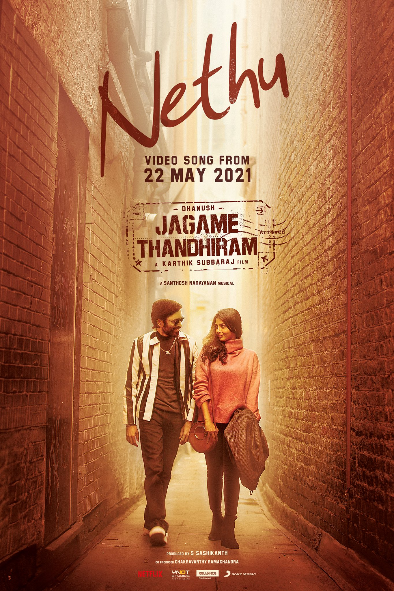 Jagame Thandhiram new video song Nethu to release on May 22