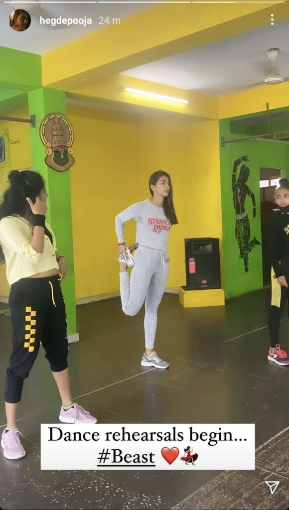 Pooja Hegde Begins Dance Rehearsals For Beast
