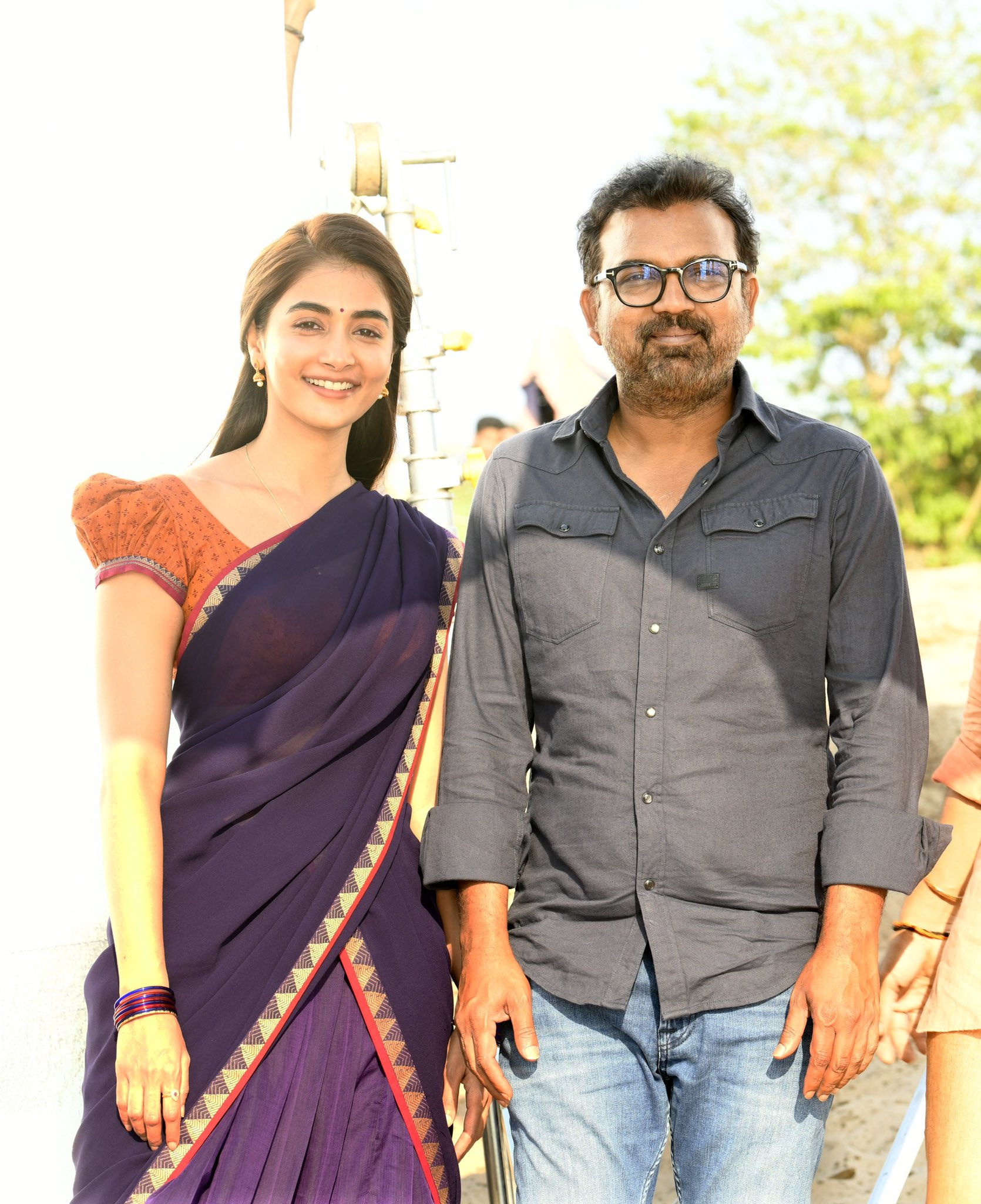Pooja Hegde wishes Koratala Siva on his birthday with a BTS pic from 'Acharya'