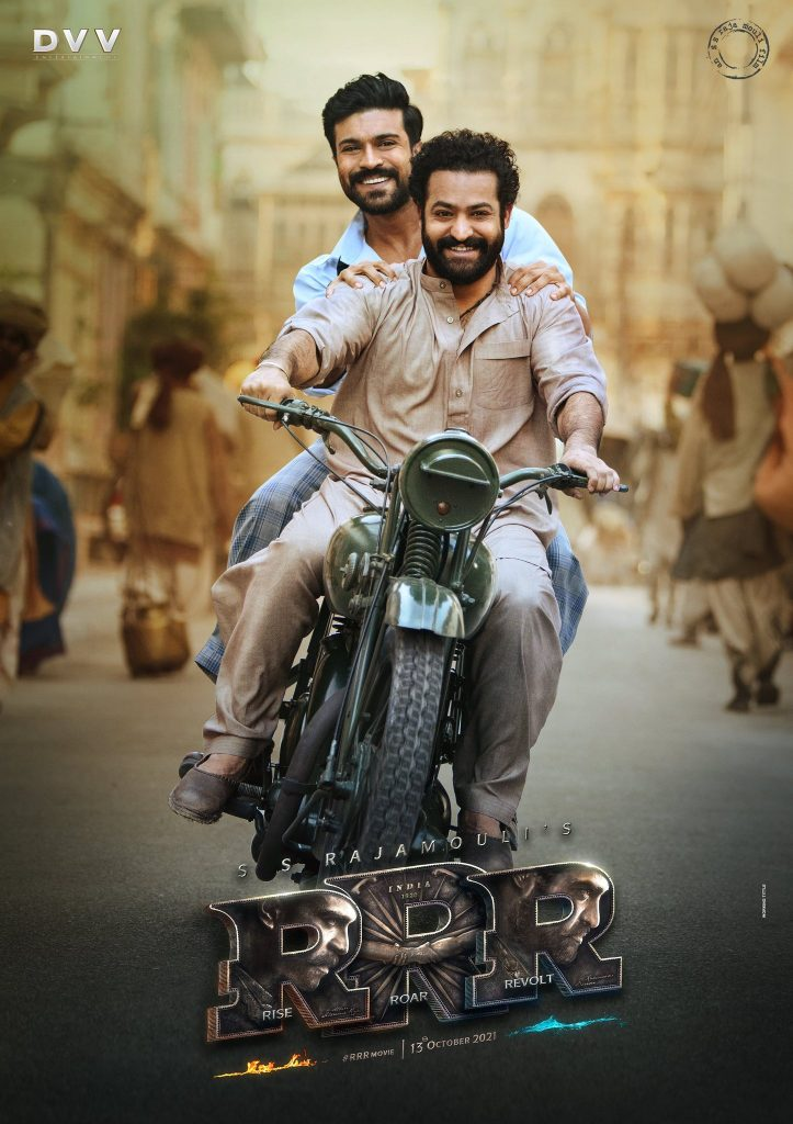 Ram Charan and Jr NTR RRR Movie New Poster Released