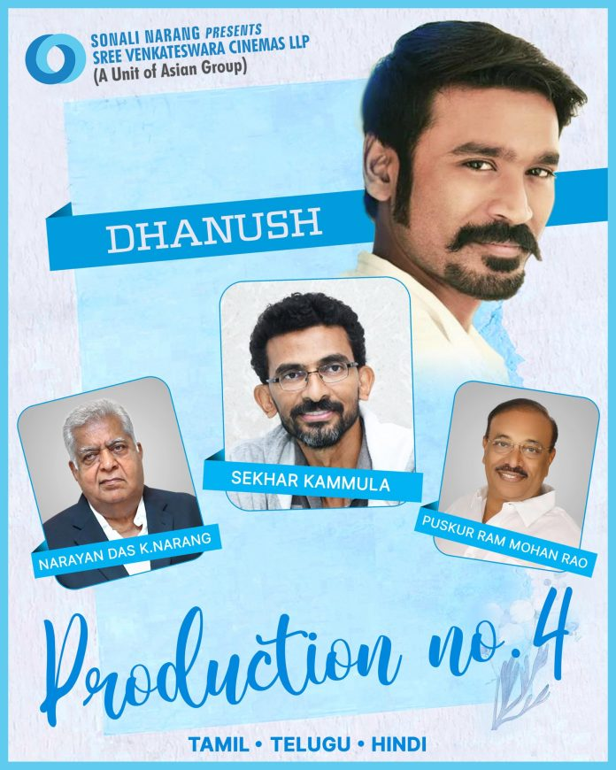 Sekhar Kammula next movie Dhanush on card officially