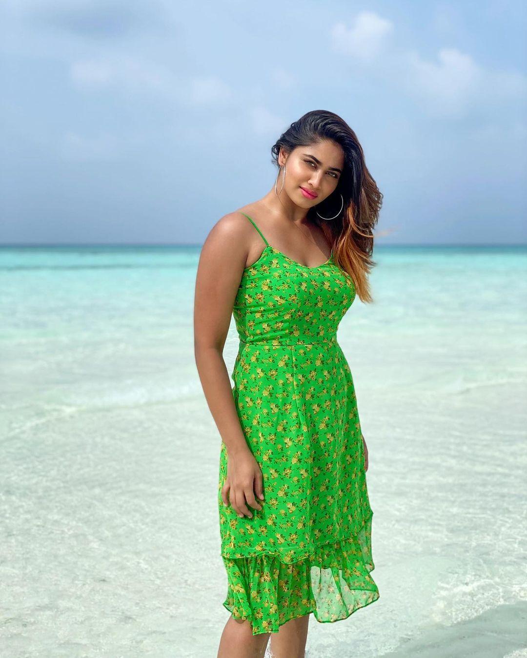 Shivani Narayanan hot images and sexy saree stills