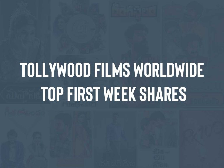 Tollywood films WW Top First Week Shares