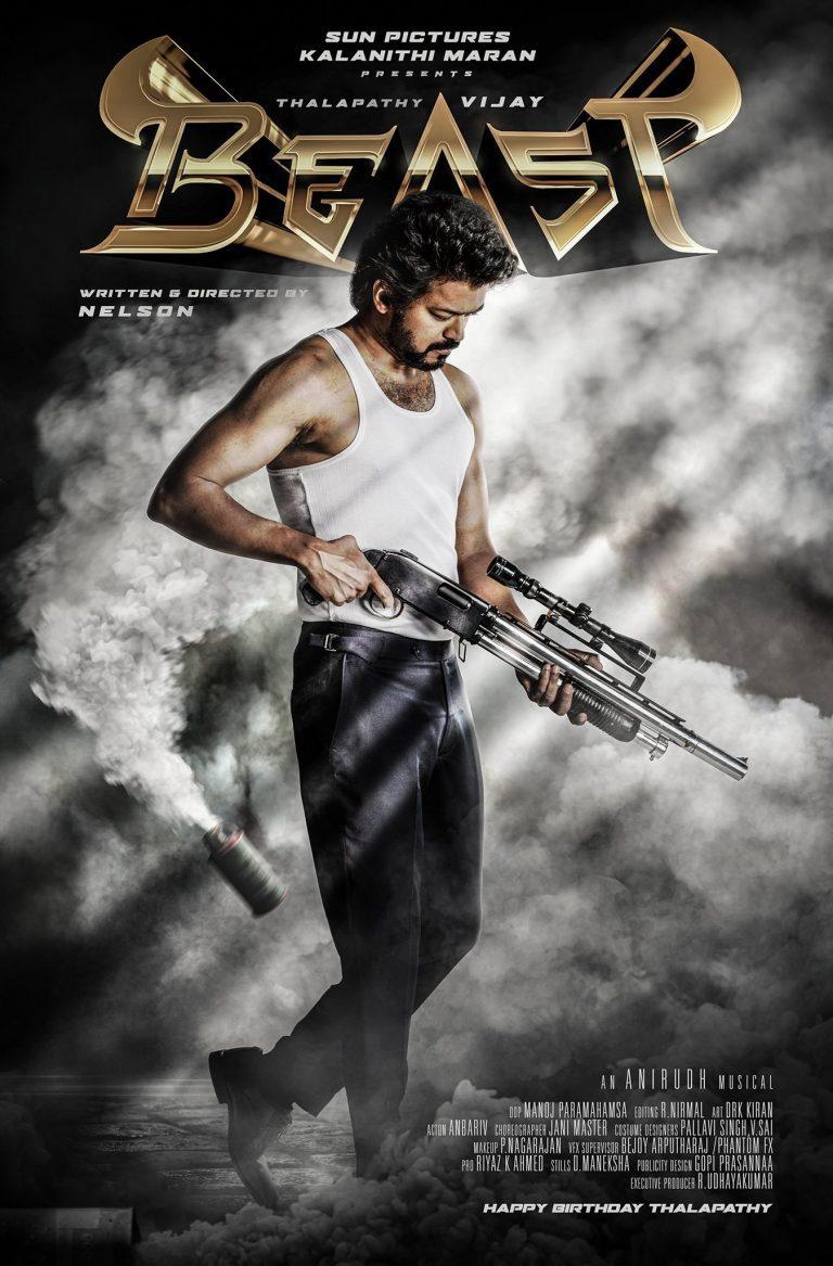 Vijay Beast First look poster released
