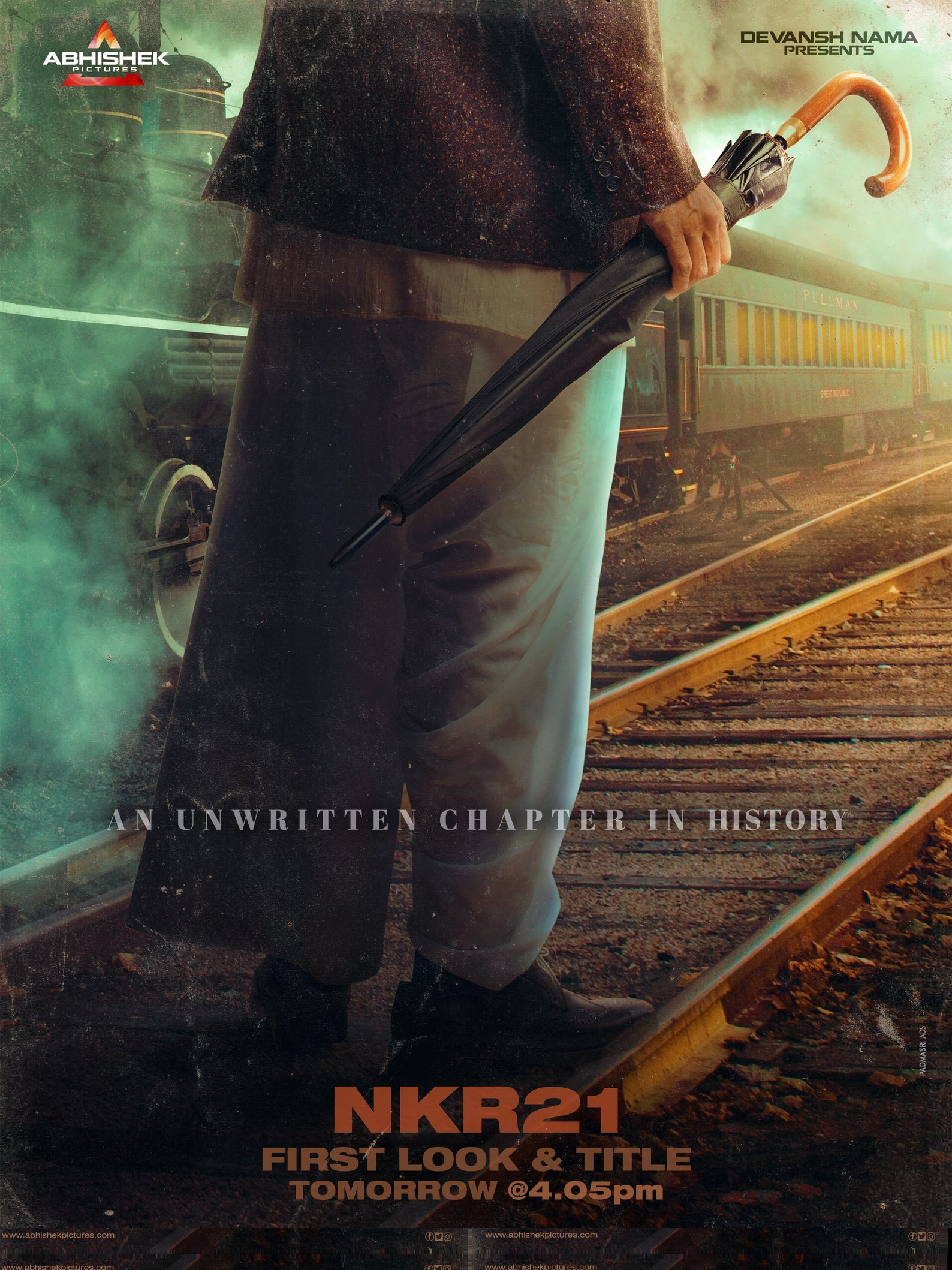 Nandamuri Kalyan Ram Next NRK21 title announcement poster