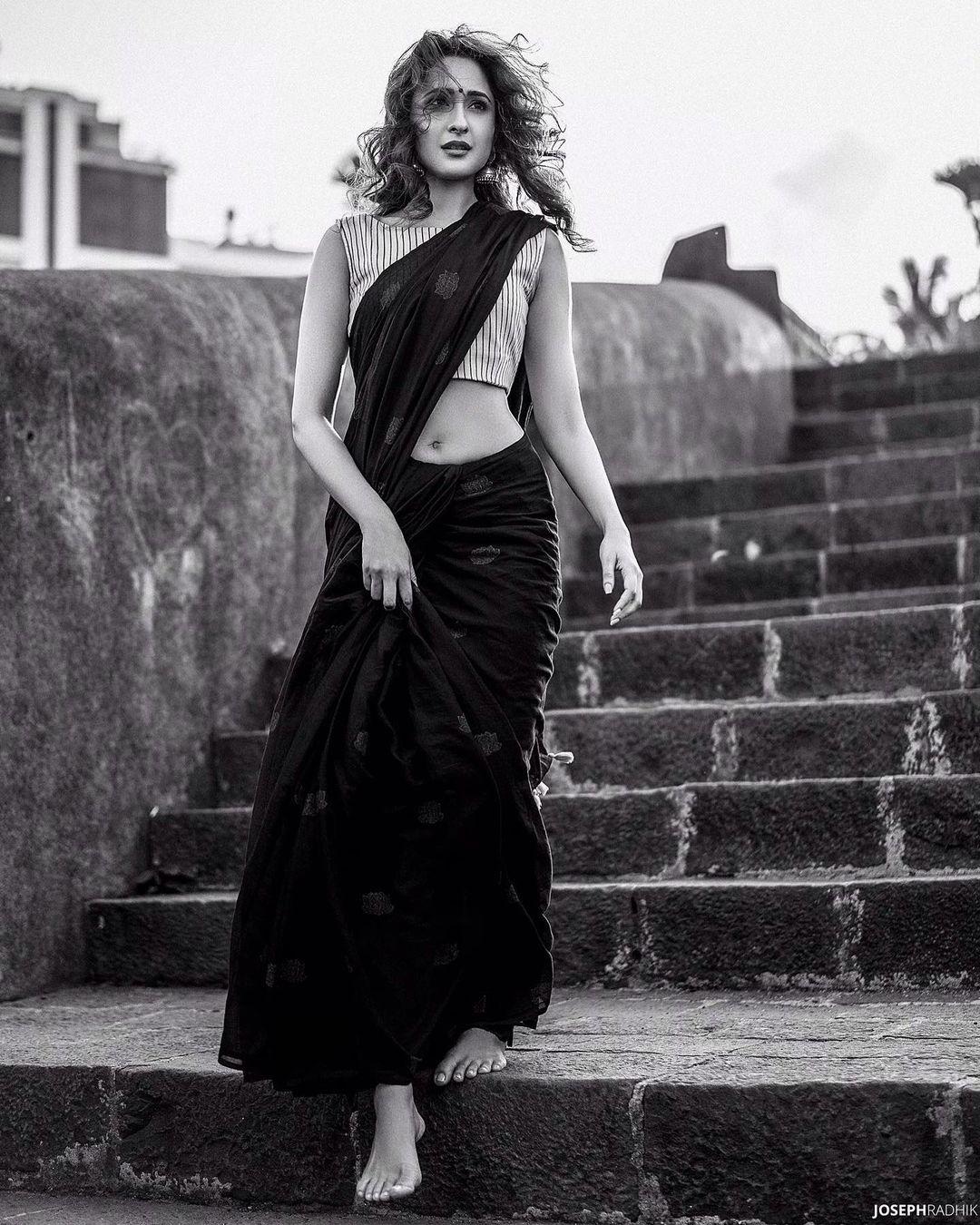 Pragya Jaiswal Hot Saree stills