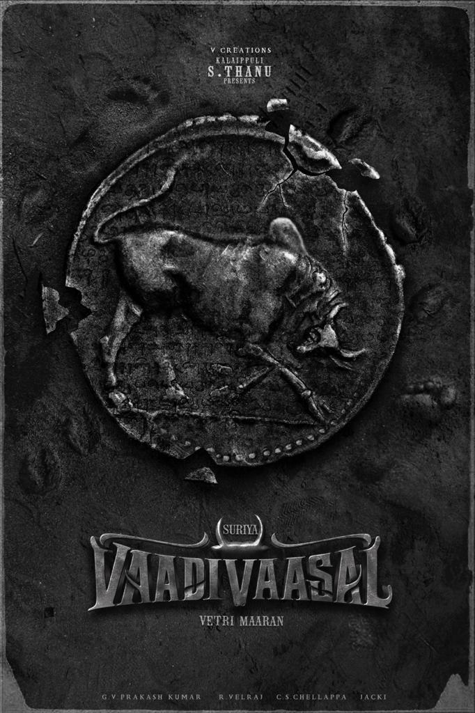 Suriya's title-look poster from Vaadi Vaasal by Vetrimaaran is out