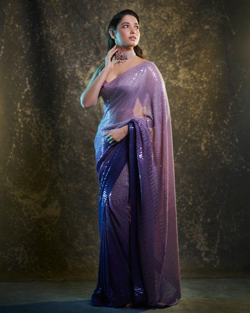 Tamannaah Bhatia Hot Saree stills