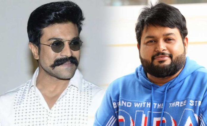 Thaman composing with 135 musicians for Ram charan introduction song in RC15