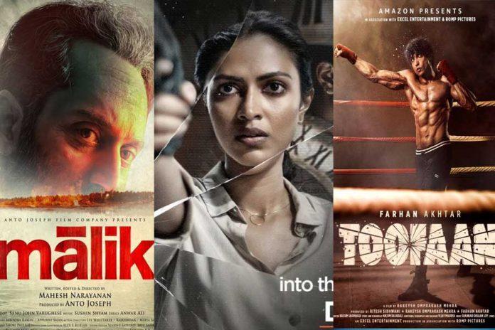 This week OTT Release movies Toofaan and Malik and Kudi Yedemaithe