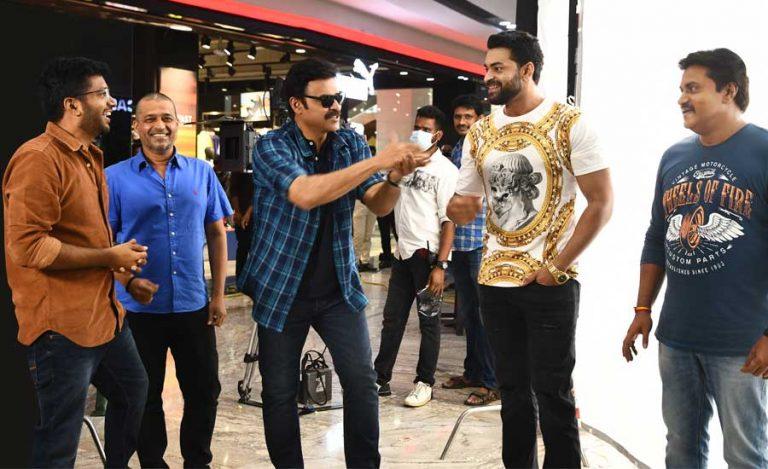 Venkatesh, Varun Tej F3 Resume Shooting