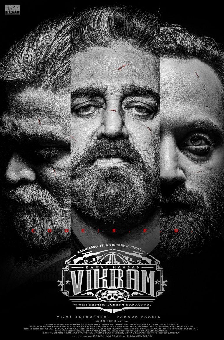 Kamal Haasan, Vijay Sethupathi, Fahadh Faasil Vikram first-look poster out